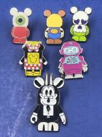 Lot Of 6 Disney Pins Vinylmation Mickey Mouse Hidden Mickey Magic Kingdom Store