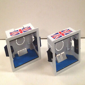 Single Gang Dry Lining Box With Intumescent Gaskets - Shallow(35mm) Deep(44mm)