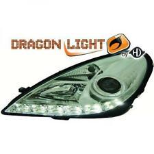 LHD Phare Paire LED Dragon Transparent Chrome H7 H1 pour Mercedes SLK R171 04-11