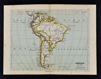 1885 Cortambert Map - South America Brazil Argentina Colombia Peru Uruguay Chili