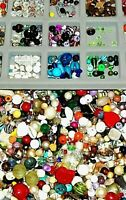 3 LBS Loose Beads Mixed Soup Lot Glass Plastic Recovered Vintage Jewelry Craft