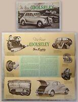 Werbeplakat Poster Broschüre Wolseley Six-Eighty 6/80 Automobil um 1950 Oldtimer