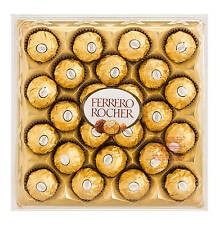 BOX OF 24 FERRERO ROCHER CHOCOLATES TRUFFLES GIFT BOX PARTY WEDDING CELEBRATIONS