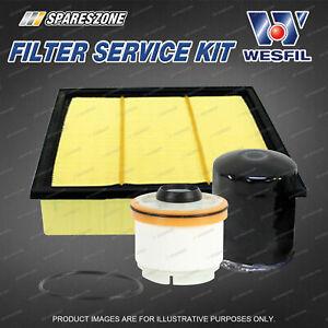 Wesfil Oil Air Fuel Filter Service Kit for Isuzu D-Max TF MU-X 3.0 TD 4Cyl 12-on