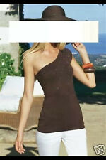 APART Top Shirt mit Pailletten Gr.40 NEU braun asymetrisch
