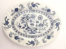 BLUE NORDIC ONION Johnson Brothers Ironstone England Blue White Medium Platter