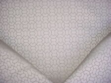 New listing 2-1/8Y Schumacher Pewter / Silver Geometric Jacquard Drapery Upholstery Fabric