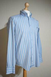 GANT Pinpoint Oxford EZ Fit Button Down Striped Shirt Mens Size M Blue RRP £95
