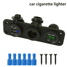 12V Cigarette Lighter Socket Splitter Dual USB Charger Power Adapter Outlet Car
