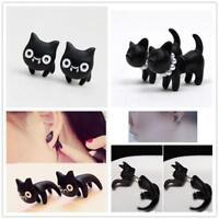 Lovely Cute 3D Cat/leopard Stud Earrings Women Girls Jewellery Ladies 1Pair