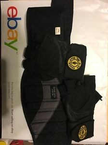 Gold Gym Belt L/XL Plus Pair Of Gold Gym Gloves Used