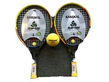 "2xKarakal flash 19"" junior tennis rackets with babolat sponge ball free post uk."