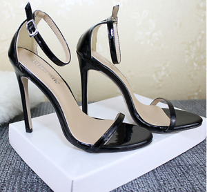 Ladies Ankle Strap Stiletto Sandals Summer High Heels Fashion Party Buckle Shoes