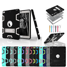For iPad 6th 5th 9.7 Pro Air 1 2 Mini 4 Hybrid Rugged Shockproof Stand Hard Case