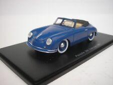 Porsche 356 Cabriolet 1951 Blue 1/43 Spark S4920