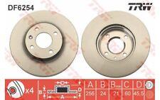 TRW Juego de 2 discos freno 256mm ventilado para CHEVROLET AVEO COBALT DF6254