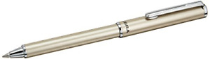 Zebra SL-F1 Mini Ballpoint Pen, 0.7 mm, Silver Body, Black Ink BA55-S