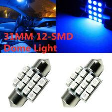 4x Blue 31mm Festoon Bulbs 5050 Car LED Interior Dome Map Cargo Light Lamp 12V