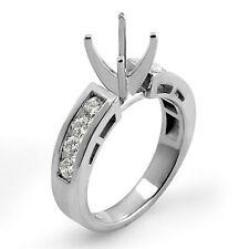 0.50 Ct Round Diamond Semi Mount G VS1 Engagement Ring 14K White Gold Accents