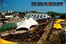 1982 World's Fair Knoxville, TN Aerial View Official Souvenir Postcard May - Oct