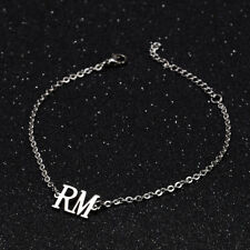 KPOP Bangtan Boys RM Name Letter Stainless Steel Bracelet Adjustable