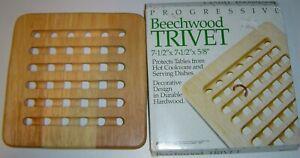 Beechwood Trivet by Progressive - New in box!
