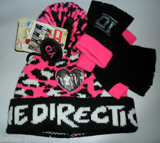 PRIMARK GIRLS HAT & FINGERLESS GLOVES SET AGE ONE DIRECTION 1D AGE 7 - 13 1 SIZE
