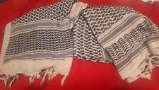 2x original 1st Gulf war era desert shemagh kufiya black and white scarfs