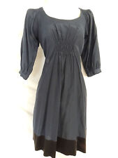 LAUNDRY by DESIGN Black and Navy Blue Silk Coton Blend Dress 3/4 sleeve sz 0