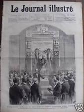 LE JOURNAL ILL 1877 N 50 LE MONUMENT DE M FELIX POUCHET