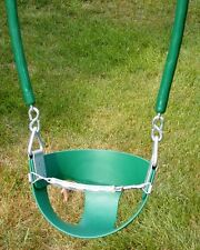 Swingset toddler swing,transition swing,half bucket swing,front safety strap,YCG