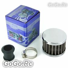18 mm STAINLESS STEEL MINI OIL AIR INTAKE CRANKCASE VENT COVER BREATHER FILTER