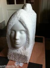 Belle Sculpture Marbre Visage XXéme signée à identifier 64