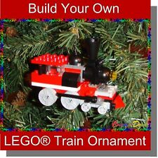 BrickCrafts Build-Your-Own LEGO® Train Christmas Holiday Ornament Stocking