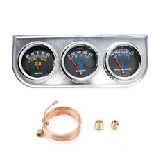 "2"" 52mm Chrome Car 3 in 1 Triple Gauge Set Kit Amp Meter Water Temp Oil Pressure"