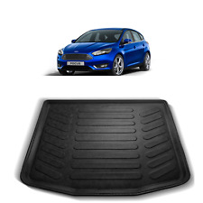 Ford Focus Boot Mat Liner Tailored Fitted Black Floor Protector Rubber 2012-2018