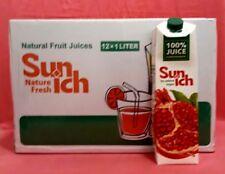 12 x 1 Litre JUS DE GRENADE naturel Grenade JUS DE sans sucre sans colorants
