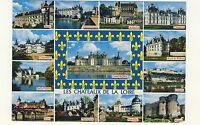 Old Postcard (1987) - Les Chateaux De La Loire (Various Views) - Posted 0267