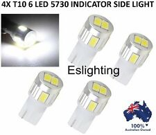 4x T10 12v W5w Indicator Repeater LED Car Tail Side Lights Turn Park Bulb White