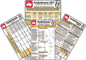 Anästhesie Karten-Set ( 4er-Set )