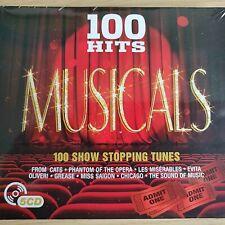 5CD NEW - 100 HITS MUSICALS - Shows Theatre Pop Music 5x CD Album - Paige Steele