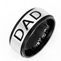Stainless Steel Dad Ring Engraved Love You Dad Men Ring Jewelry Balss