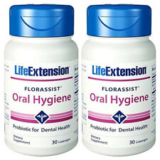 Florassist Oral Hygiene 2X30 Lozen Life Extension Probiotic Dental L.plantarum