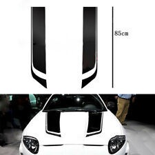 Car Trim Hood Engine Cover Decoration Stickers Black Decal Washable Universal