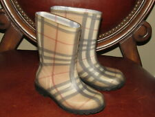 Burberry Kids Nova Check Rain Boots 26 8.5 Toddler