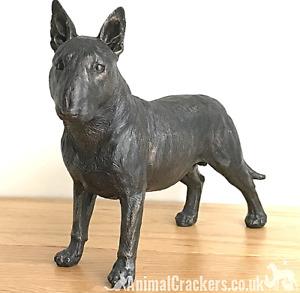 24cm Bull Terrier ornament figurine decoration dark bronze effect Dog Lover Gift