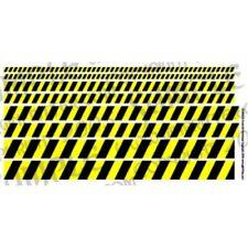 Ginfritter's Gnomish Workshop WARN001 Warning Stripe Decal Black & Yelow