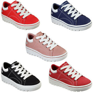 Skechers Street Cleat - Bring It Back Trainers Classic Retro Shoes Womens 74100