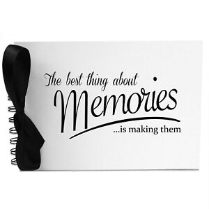 Ribbon, Best Memories, Photo Album, Scrapbook, Blank White Pages, A5
