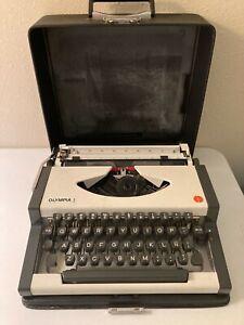 Vintage Olympia Typewriter w Case Tested & Working